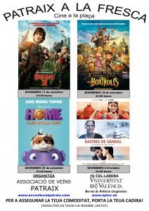 Cartell Cinema a la Fresca 2015 Patraix