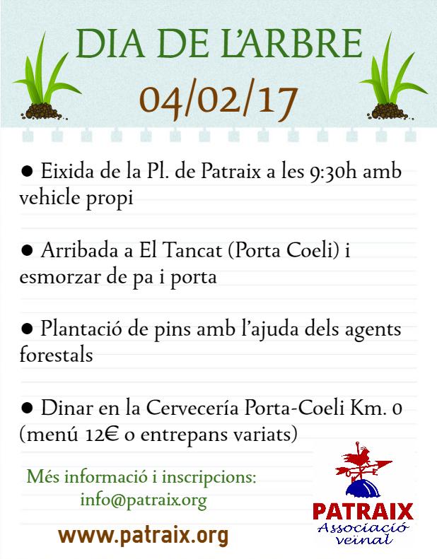 D a del rbol associaci ve nal patraix for Dia del arbol 01 de septiembre