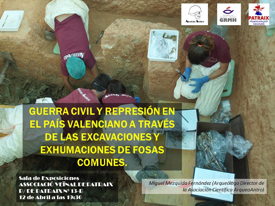 """Charla """"Guerra Civil y represión a través de las fosas comunes"""""""