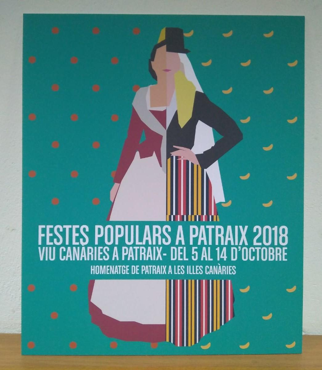 Cartel ganador del concurso para la XXIV edición de las Fiestas Populares de Patraix