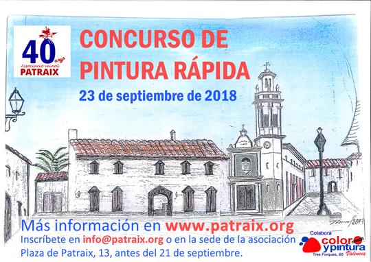 Concurso de pintura rápida en Patraix