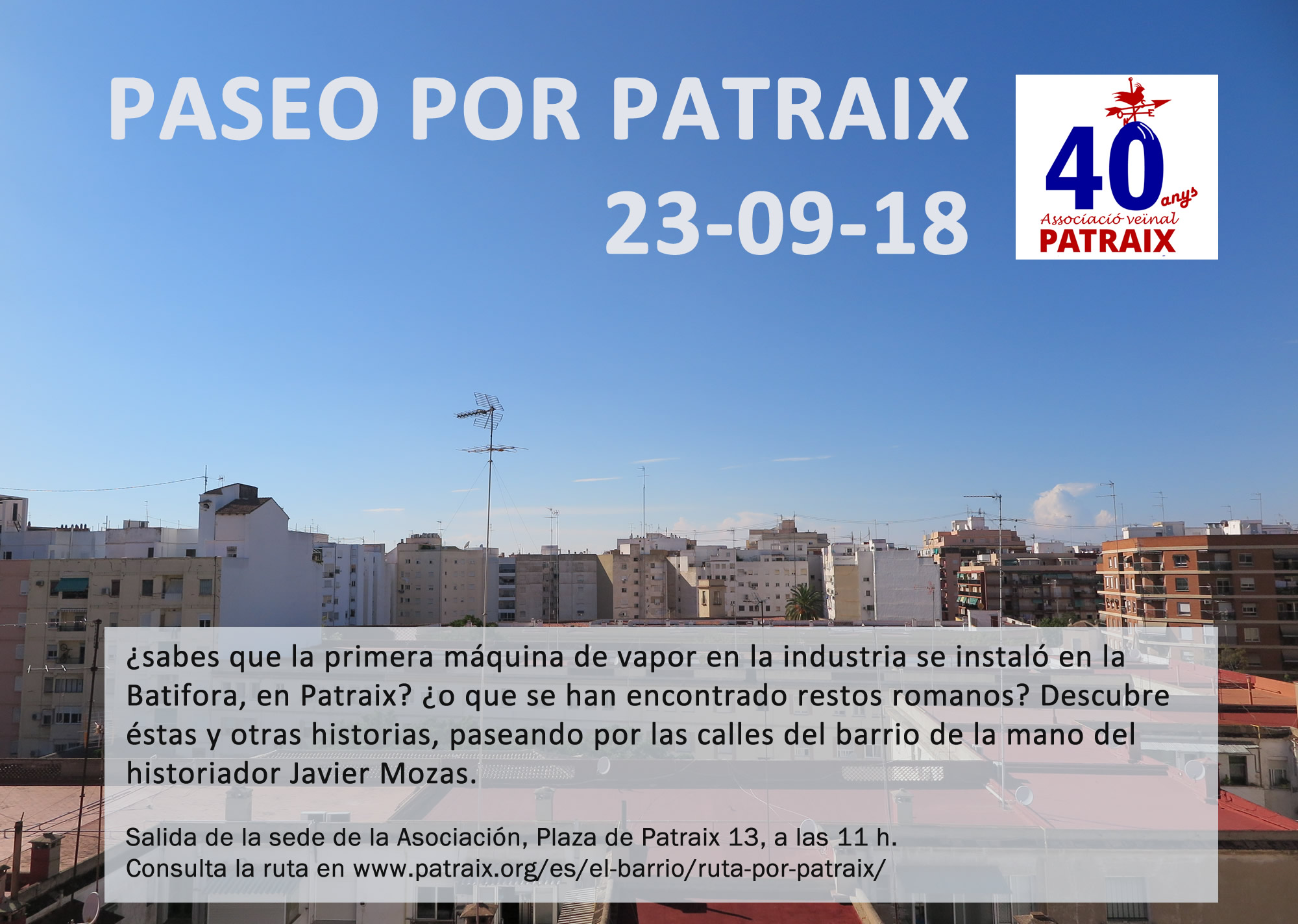 Paseo por Patraix 23/09/18