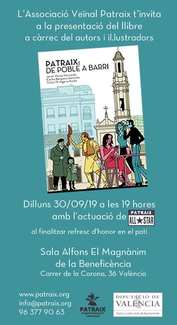 """Presentación del libro""""Patraix de poble a barri"""""""