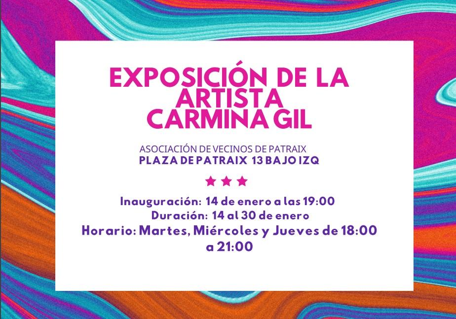 Exposición de pintura de Carmina Gil hasta 30/01