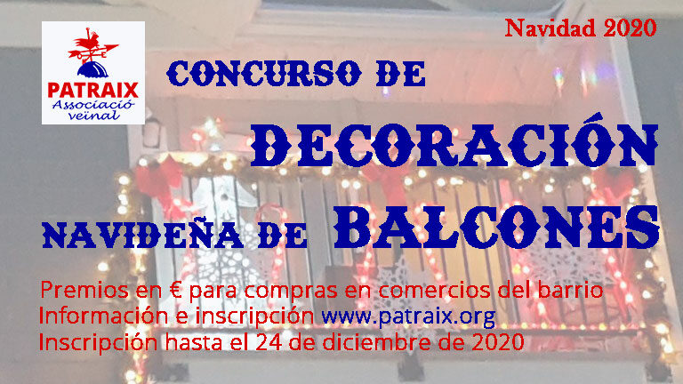 Concurso de decoración navideña de balcones