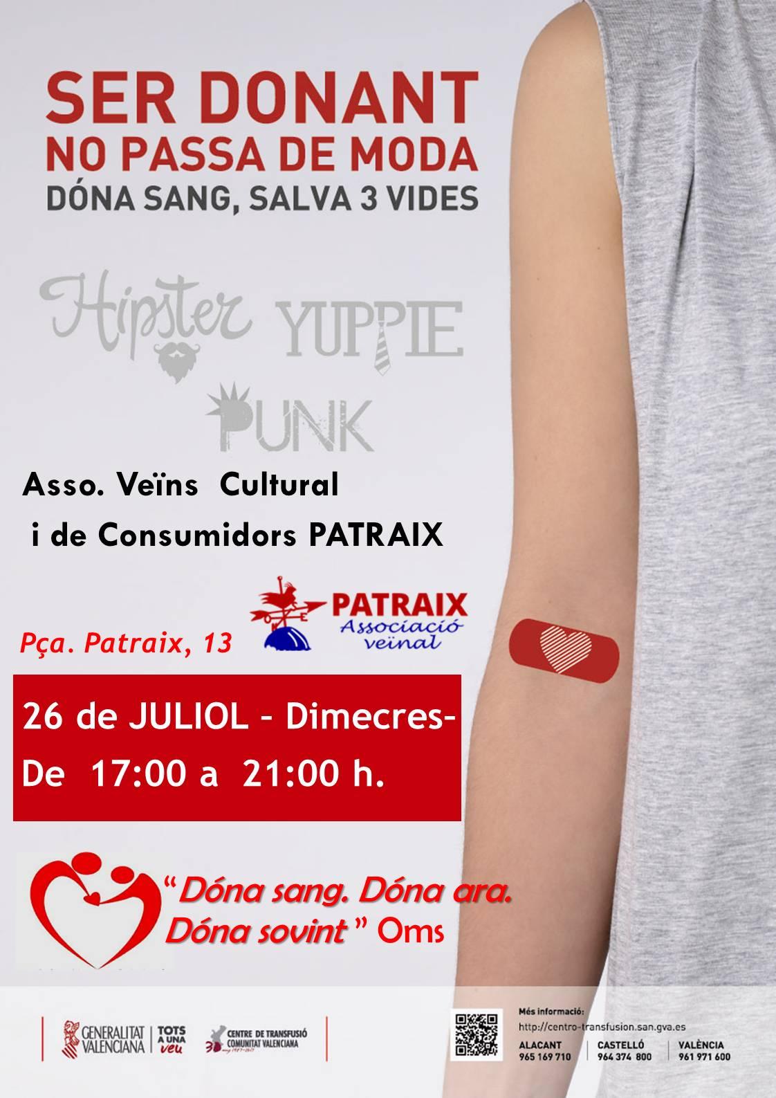 Donación de sangre 26/07/17